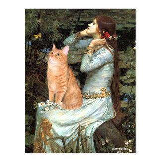 Ophelia - Orange Tabby cat 46 Postcard