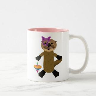Ophelia Otter Two-Tone Coffee Mug