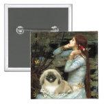 Ophelia - Pekingese 1b 2 Inch Square Button