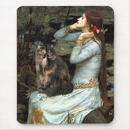 Ophelia - Persian Calico cat Mouse Pad