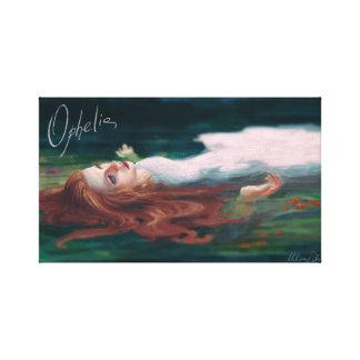 Ophelia Portrait Wrapped Canvas