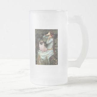 Ophelia - Pug 17 - fawn 16 Oz Frosted Glass Beer Mug