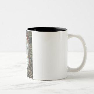 Ophelia - Pug 17 - fawn Two-Tone Coffee Mug