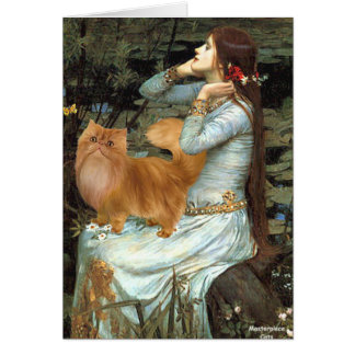 Ophelia - Red Persian cat Card