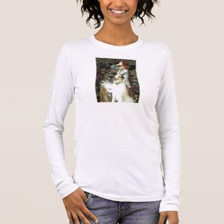 Ophelia Seated -  Basenji Long Sleeve T-Shirt