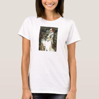 Ophelia Seated -  Basenji T-Shirt