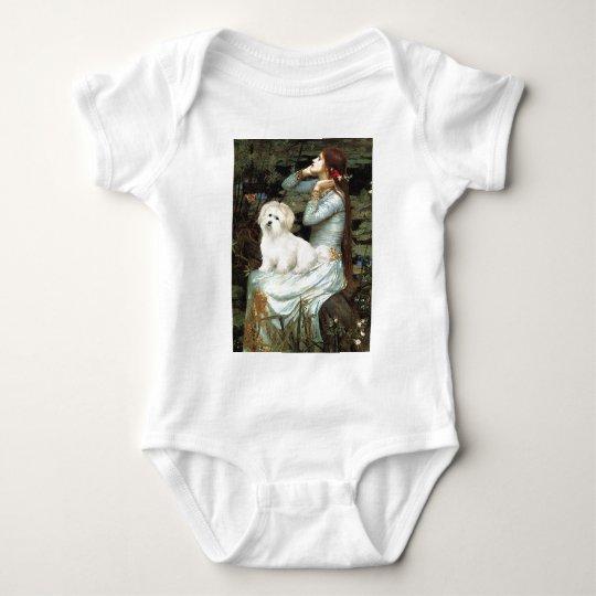 Ophelia Seated - Coton de Tulear 7 Baby Bodysuit