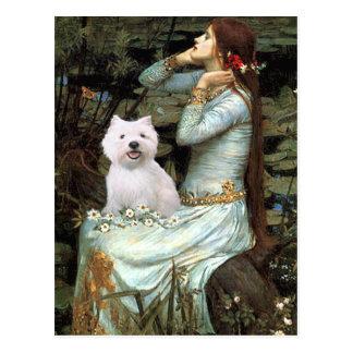 Ophelia Seated - Westie 2 Postcard