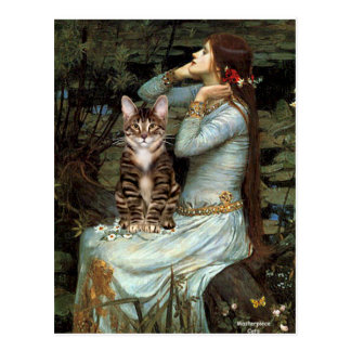 Ophelia - Tabby Tiger cat 30 Postcard