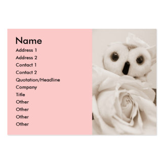 Ophelia - The Romantic Owl Large Business Cards (Pack Of 100)