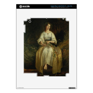 Ophelia weaving her garlands, 1842 (oil on panel) iPad 3 skins
