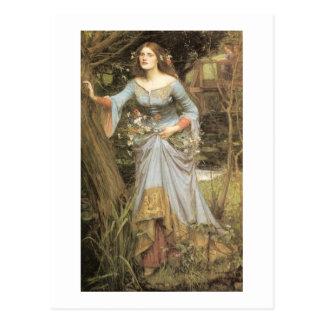Ophelia with a Bouquet Postcard