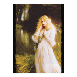 Ophelia with Haunted Eyes Card