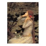 Ophelia with Streaming Red Hair Post Cards