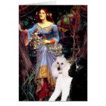 Ophelia (Woods)-2 Standard Poodles Card