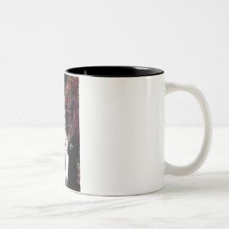 Ophelia (Woods)-2 Standard Poodles Two-Tone Coffee Mug