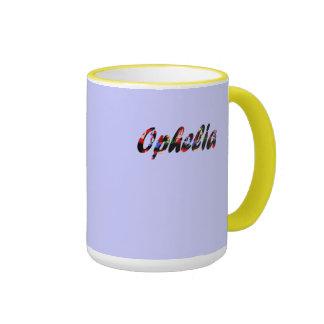 Ophelia's coffee mug