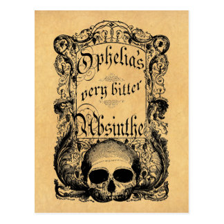 Ophelia's Very Bitter Absinthe Postcard