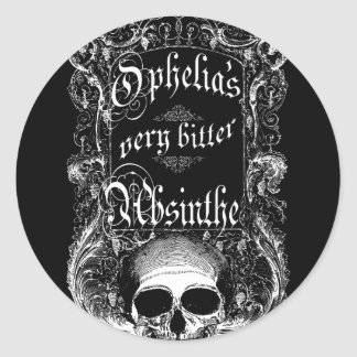 Ophelia's Very Bitter Absinthe Round Stickers