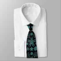 Ophiodea in Turquoise and Black Neck Tie
