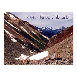 Ophir Pass, Colorado Postcard