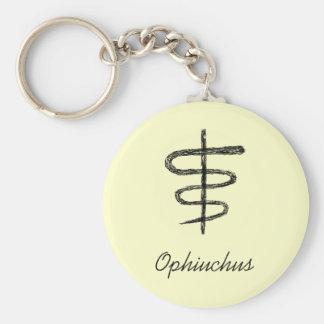 Ophiuchus. Muestra del zodiaco. Bosquejo negro Llavero Redondo Tipo Pin