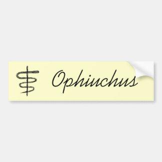 Ophiuchus. Muestra del zodiaco. Bosquejo negro Pegatina Para Auto