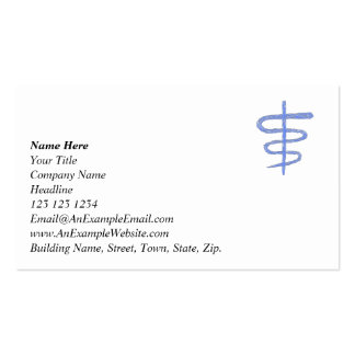 Ophiuchus. Zodiac Sign in Blue. Business Card