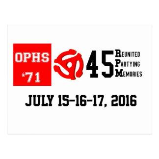 OPHS '71 45rpm Postcard