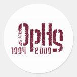 OPHSlogo1 Pegatina Redonda