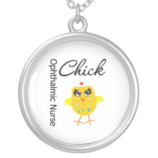 Ophthalmic Nurse Chick v1 Round Pendant Necklace
