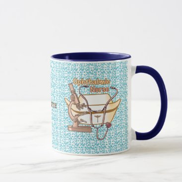 Beach Themed Ophthalmic Nurse Collage custom name mug