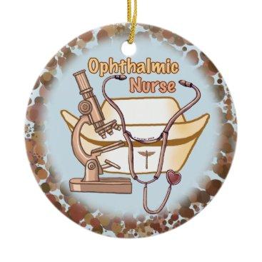 Beach Themed Ophthalmic Nurse Collage custom name ornament