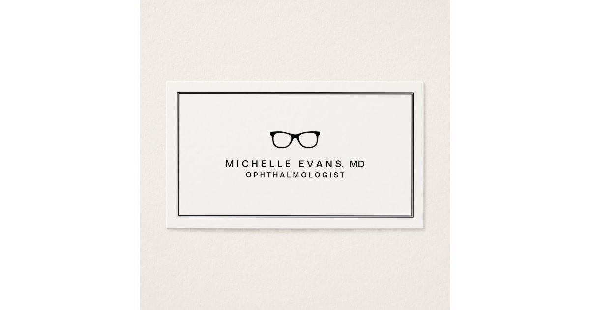 Ophthalmologist Black and Ivory Business Cards | Zazzle.com