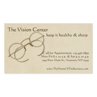 Ophthalmologist, Optometrist or Optician Practice Business Card
