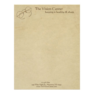 Ophthalmologist, Optometrist or Optician Practice Letterhead