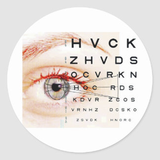 ophthalmology classic round sticker