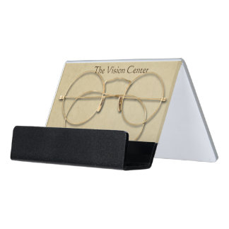 Ophthalmology, Optometry or Optician Desk Business Card Holder