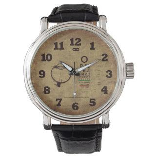 Ophthalmology Pearls Black Vintage Wrist Watch