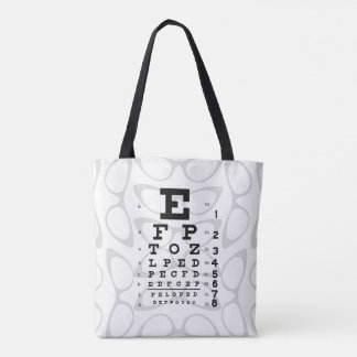 Ophthalmology Pop Art Retro Eye Chart Cat Eyes Tote Bag