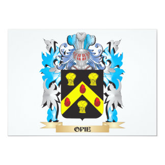 Opie Coat of Arms - Family Crest 5x7 Paper Invitation Card