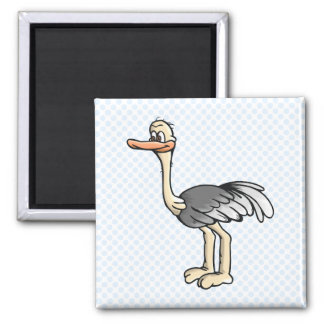Opie Ostrich 2 Inch Square Magnet