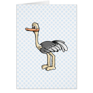 Opie Ostrich Greeting Card