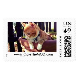 Opie The MOD in a pot Postage Stamps