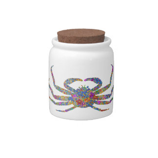 Opilio Crab in Blue With Stars Candy Jars
