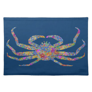 Opilio Crab in Blue With Stars Placemat