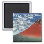 Opinión 02 del monte Fuji Imán Cuadrado