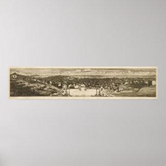 Opinión 1855 del panorama de San Francisco Califor Póster