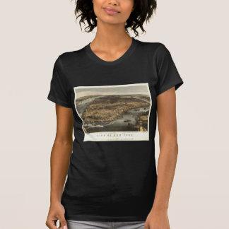 Opinión 1856 de ojo de pájaros de New York City NY Camiseta
