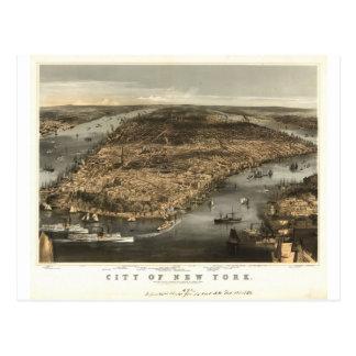 Opinión 1856 de ojo de pájaros de New York City NY Postal